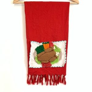 Anthropology 3D Knit Thanksgiving Dish Towel